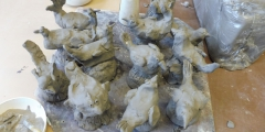 Modráčci na keramice