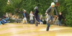 Modráčci v parku Mirakulum
