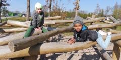 Modráčci v parku