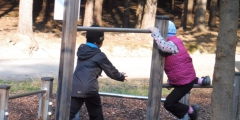 Modráci v Podhůří na lesní pedagogice