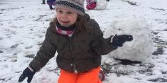 Oranžováčci a sníh